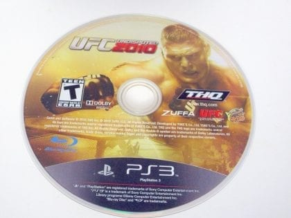 UFC Undisputed 2010 game for Sony PlayStation 3 -Loose