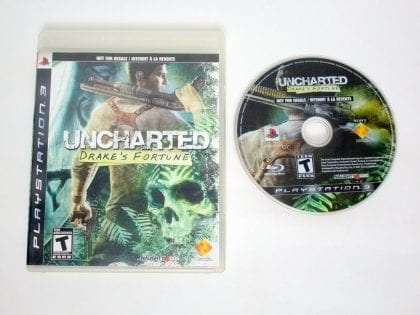 Uncharted Drake's Fortune game for Sony PlayStation 3 -Game & Case