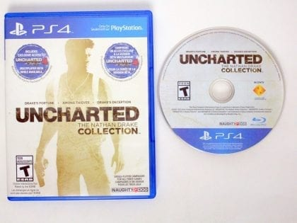 Uncharted The Nathan Drake Collection game for Sony PlayStation 4 -Game & Case