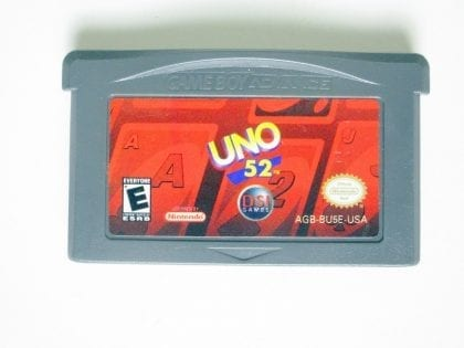 Uno 52 game for Nintendo Game Boy Advance -Loose