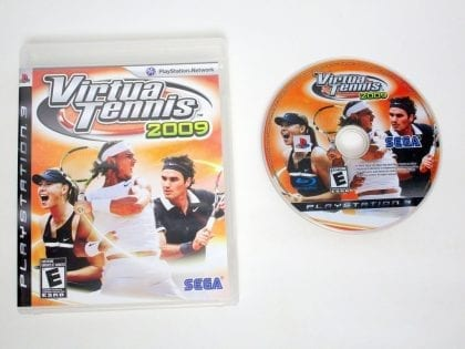 Virtua Tennis 2009 game for Sony PlayStation 3 -Game & Case