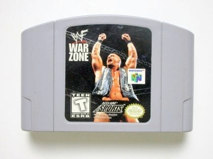 WWF Warzone game for Nintendo 64 -Loose