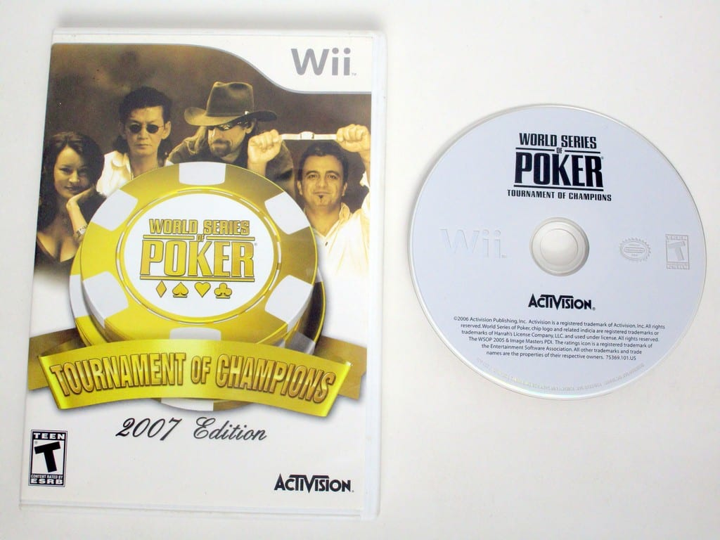 World Series of Poker Tournament of Champions 2007 game for Nintendo Wii -Game & Case