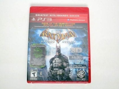Batman: Arkham Asylum Game of the Year Edition game for Sony PlayStation 3 -New