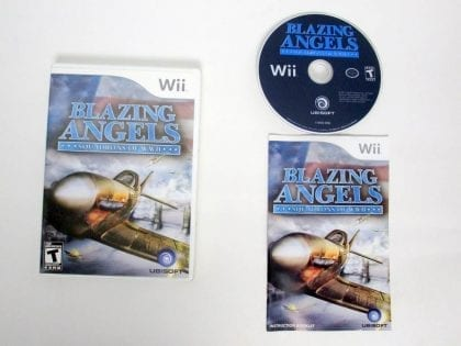 Blazing Angels Squadrons of WWII game for Nintendo Wii -Complete