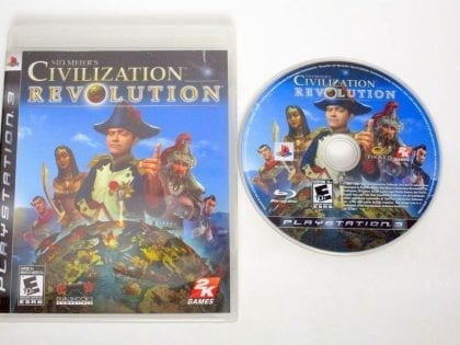 Civilization Revolution game for Sony PlayStation 3 -Game & Case