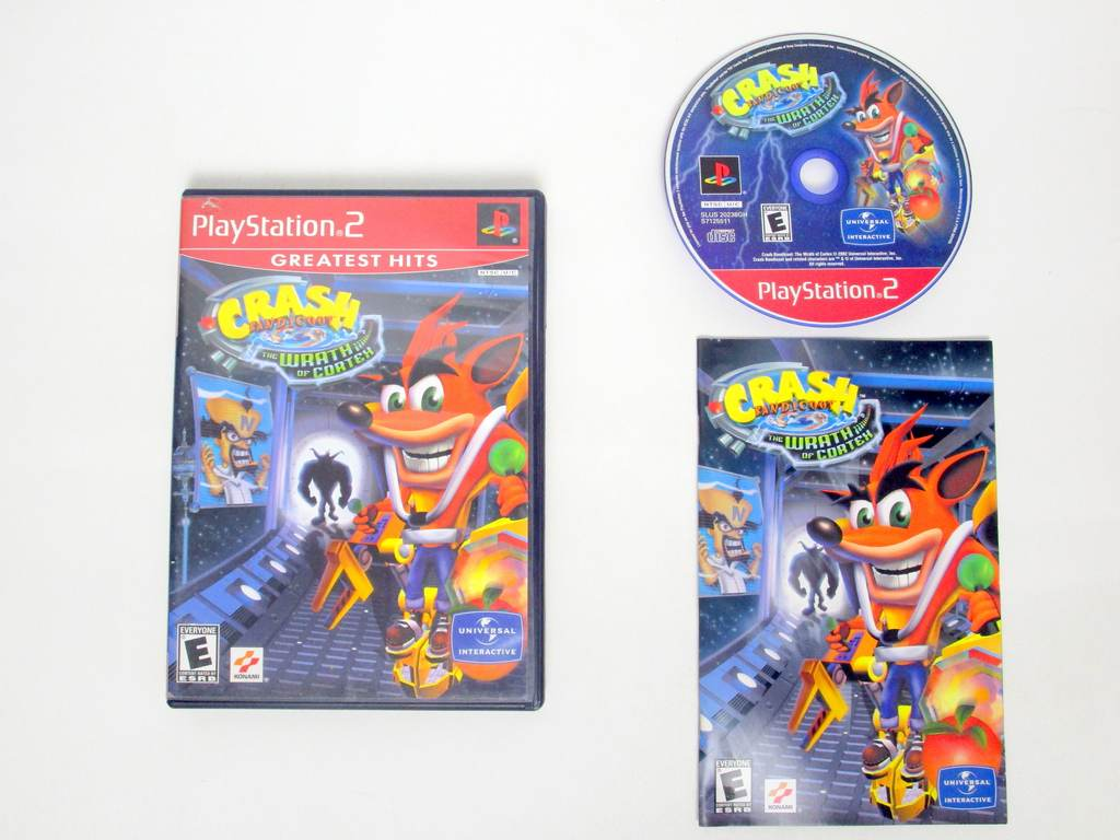 Crash Bandicoot Wrath Cortex game for Sony PlayStation 2 -Complete