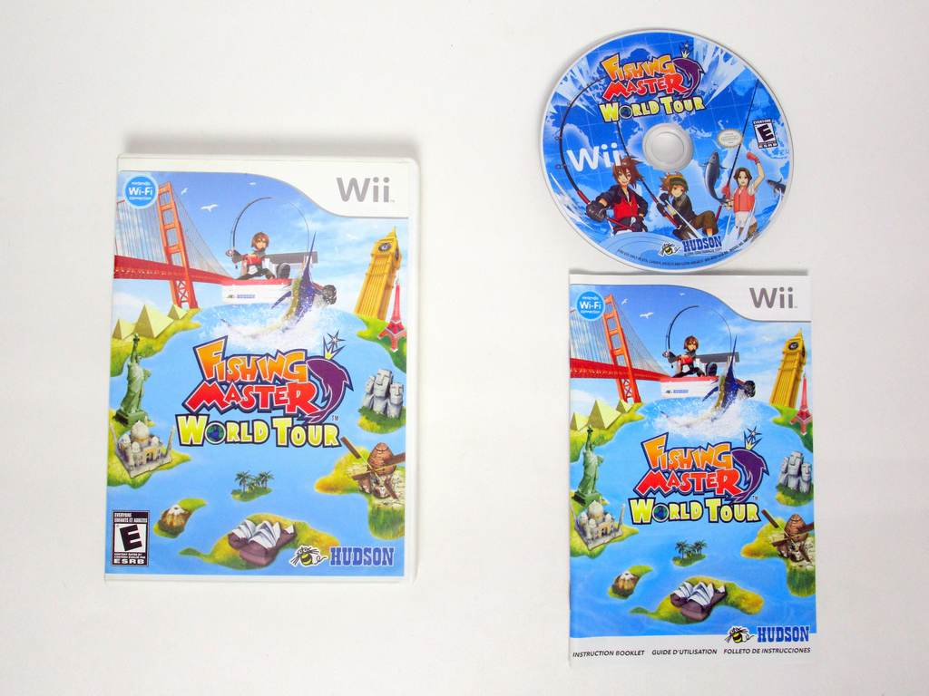 wii fishing master world tour