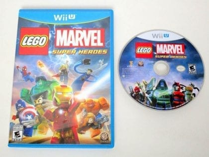 LEGO Marvel Super Heroes game for Nintendo Wii U -Game & Case