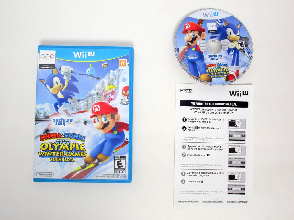 Mario & Sonic at the Sochi 2014 Olympic Games game for Nintendo Wii U -Complete