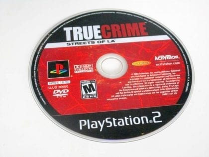 True Crimes Streets of LA game for Sony PlayStation 2 -Loose
