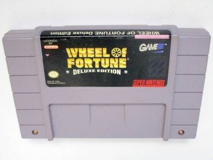 Wheel of Fortune Deluxe Edition game for Nintendo SNES -Loose