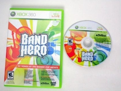 Band Hero game for Microsoft Xbox 360 -Game & Case