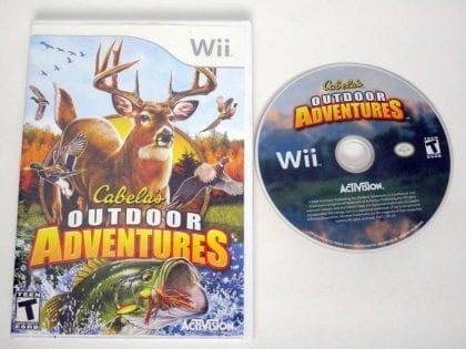 Cabela's Outdoor Adventures 2010 game for Nintendo Wii -Game & Case