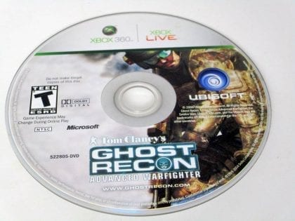 Ghost Recon Advanced Warfighter game for Microsoft Xbox 360 -Loose