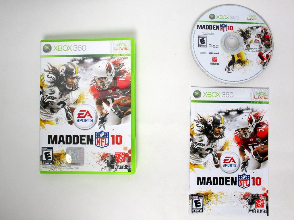 Madden NFL 10 game for Microsoft Xbox 360 -Complete