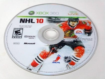 NHL 10 game for Microsoft Xbox 360 -Loose