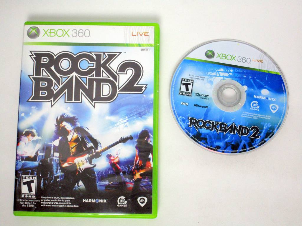 Rock Band 2 (game only) game for Microsoft Xbox 360 -Game & Case