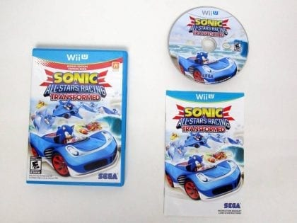 Sonic & All-Star Racing Transformed Bonus Edition game for Nintendo Wii U -Complete