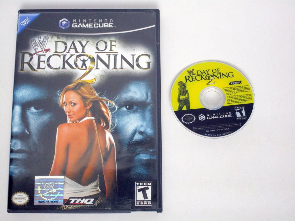 WWE Day of Reckoning 2 game for Nintendo GameCube -Game & Case