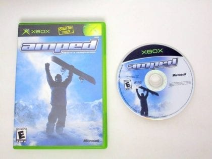 Amped Snowboarding game for Microsoft Xbox -Game & Case