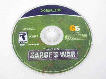Army Men Sarge's War game for Microsoft Xbox -Loose