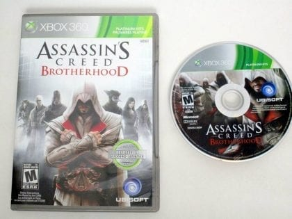 Assassin's Creed: Brotherhood game for Microsoft Xbox 360 -Game & Case