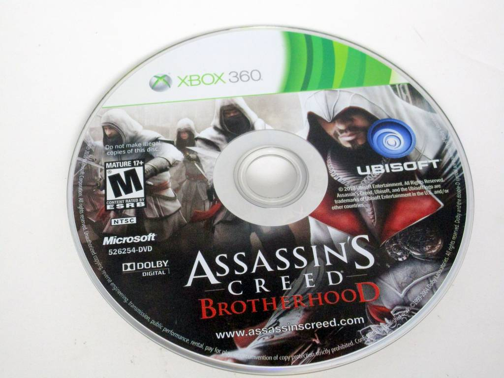 Assassin's Creed: Brotherhood game for Microsoft Xbox 360 -Loose