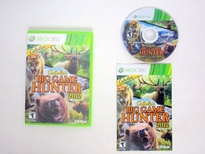 Cabela's Big Game Hunter 2012 game for Microsoft Xbox 360 -Complete
