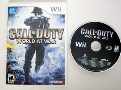 Call of Duty World at War game for Nintendo Wii -Game & Case