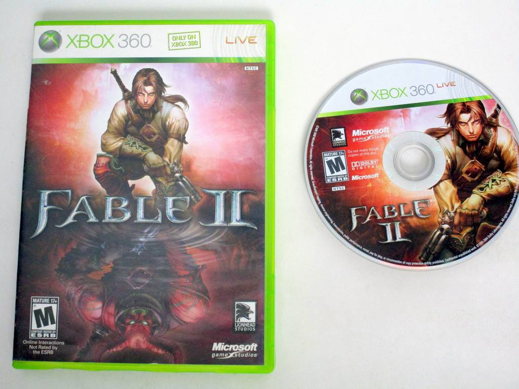 Fable II game for Microsoft Xbox 360 -Game & Case