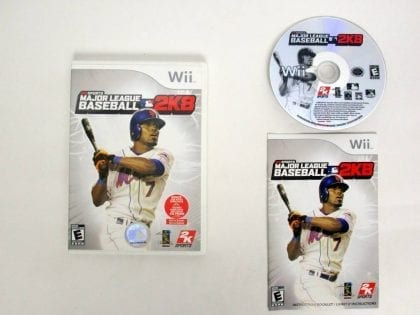 Major League Baseball 2K8 game for Nintendo Wii -Complete