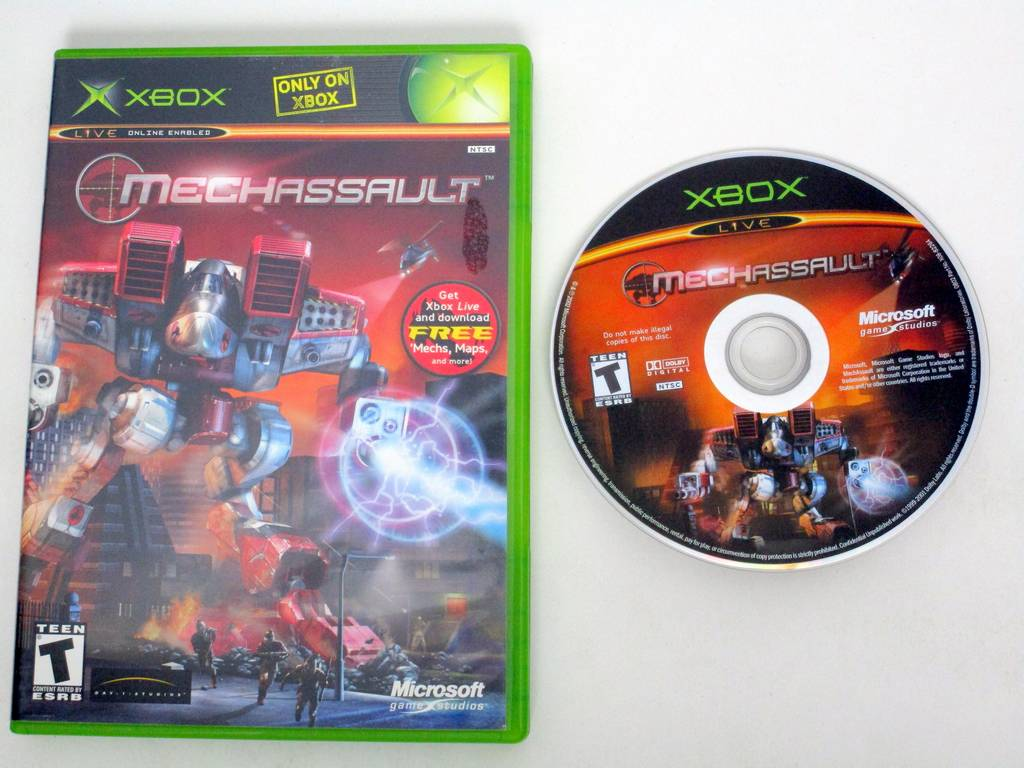 MechAssault game for Microsoft Xbox -Game & Case