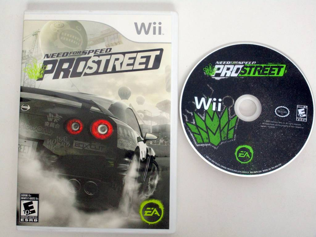 Need for Speed Prostreet game for Nintendo Wii -Game & Case