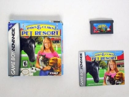 Paws & Claws Pet Resort game for Nintendo Game Boy Advance -Complete