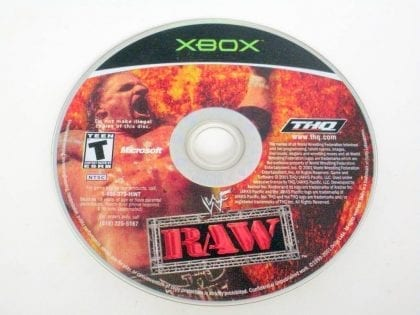 WWF Raw game for Microsoft Xbox -Loose