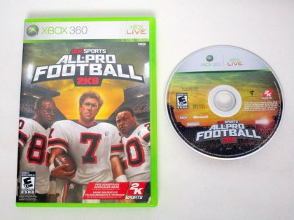 All Pro Football 2K8 game for Microsoft Xbox 360 -Game & Case