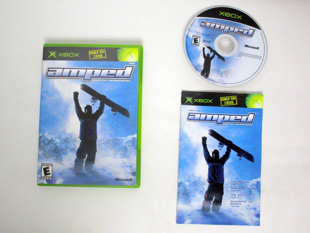 Amped Snowboarding game for Microsoft Xbox -Complete
