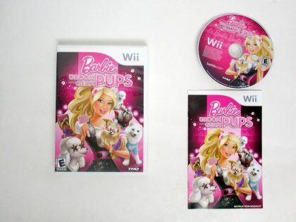 Barbie: Groom and Glam Pups game for Nintendo Wii -Complete