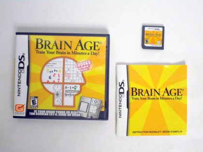 Brain Age game for Nintendo DS -Complete