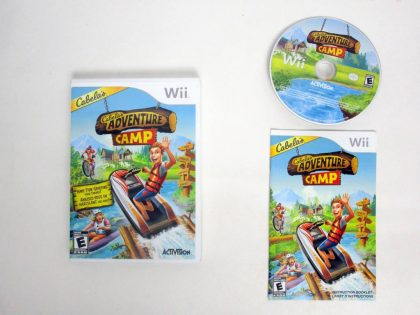 Cabela's Adventure Camp game for Nintendo Wii -Complete