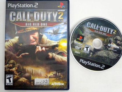 Call of Duty 2 Big Red One game for Sony PlayStation 2 -Game & Case