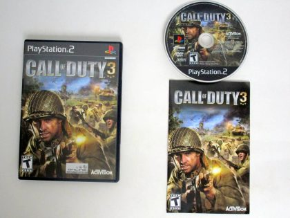 Call of Duty 3 game for Sony PlayStation 2 -Complete