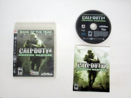 Call of Duty 4 Modern Warfare Game of the Year Edition game for Sony PlayStation 3 -Complete