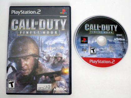 Call of Duty Finest Hour game for Sony PlayStation 2 -Game & Case