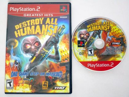 Destroy All Humans game for Sony PlayStation 2 -Game & Case