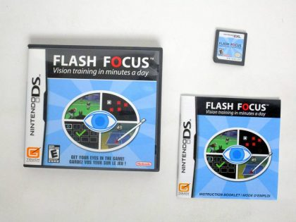 Flash Focus Vision Training game for Nintendo DS -Complete