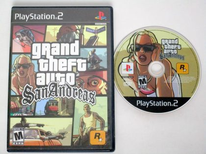 Grand Theft Auto San Andreas game for Sony PlayStation 2 -Game & Case