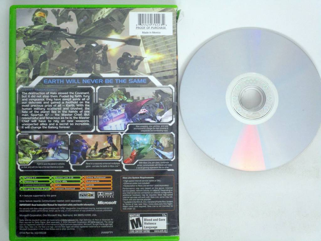 Halo 2 game for Microsoft Xbox -Game & Case