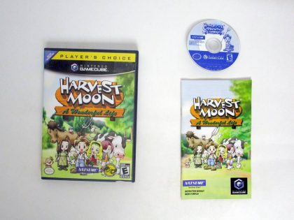 Harvest Moon A Wonderful Life game for Nintendo GameCube -Complete